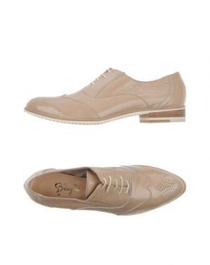 Обувь на шнурках F.LLI BRUGLIA. Цвет: песочный