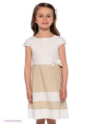 Платье 02 TANDEM. Цвет: бежевый, белый