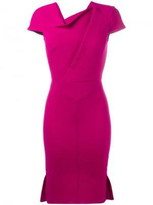 Платье Farrant Roland Mouret. Цвет: розовый и фиолетовый