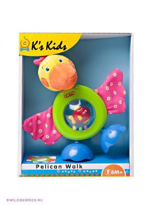 Развивающая погремушка Пеликан K'S Kids. Цвет: зеленый, желтый