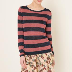 Пуловер с металлизированным эффектом MAISON SCOTCH. Цвет: розовый/ черный,темно-зеленый