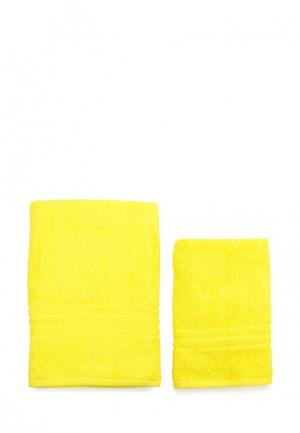 Комплект полотенец 2 шт. Arloni. Цвет: желтый