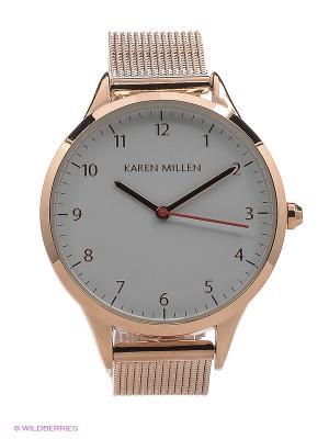 Часы KAREN MILLEN. Цвет: бледно-розовый