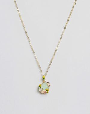 Bill Skinner Ожерелье с искусственным хризолитовым опалом. Цвет: золотой