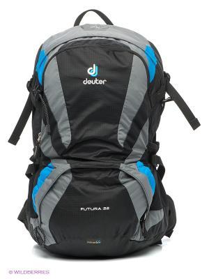 Рюкзак Deuter. Цвет: черный, голубой, серый