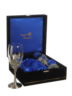 Подарочный набор бокалов для вина Гроздья Винограда Eagle Pewter. Цвет: серебристый