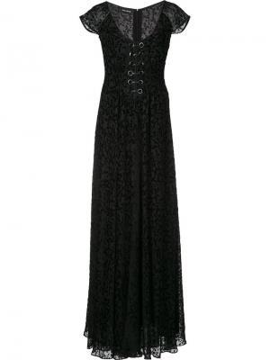 Floral Burnout dress Yigal Azrouel. Цвет: чёрный