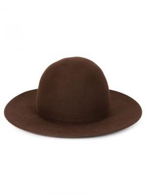 Фетровая шляпа Liberty Or Death. Цвет: коричневый