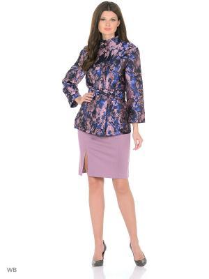 Жакет La Fleuriss. Цвет: синий, розовый