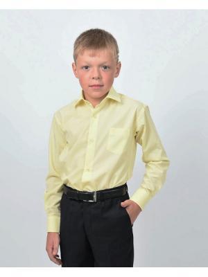 Рубашка  для мальчика HERDAL. Цвет: желтый