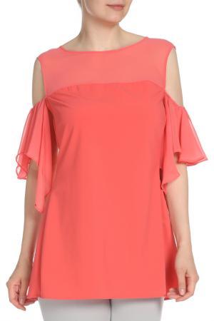 Блузка Fiorella Rubino. Цвет: розовый