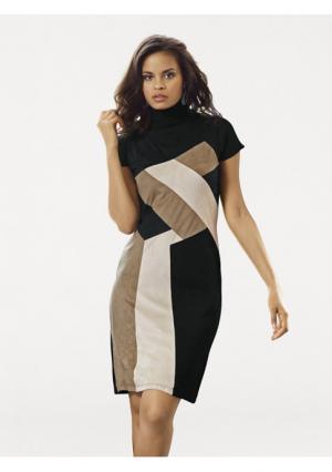 Платье-футляр B.C. BEST CONNECTIONS. Цвет: черный/бежевый