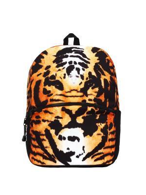 Рюкзак Mojo Backpacks. Цвет: черный, оранжевый