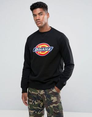 Dickies Черный свитшот с крупным логотипом. Цвет: черный