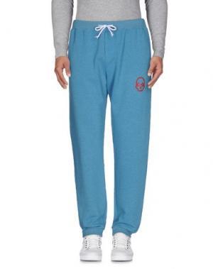 Повседневные брюки GORGEOUS. Цвет: пастельно-синий