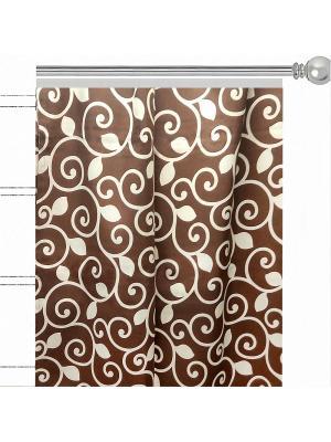 Штора с рисунком Фонда Altali. Цвет: коричневый