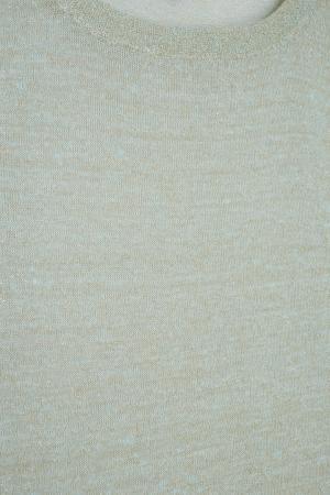 Льняной джемпер Tegin. Цвет: светло-зеленый
