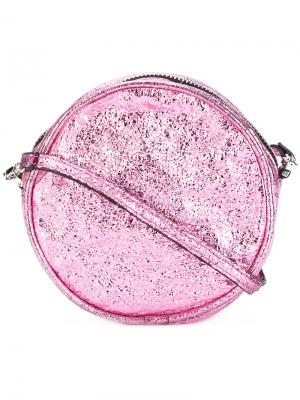 Круглая сумка через плечо Zilla. Цвет: розовый и фиолетовый