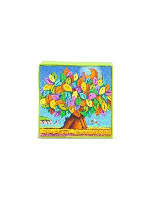 Деревянная статуэтка Дерево Счастья. Цвет: зеленый