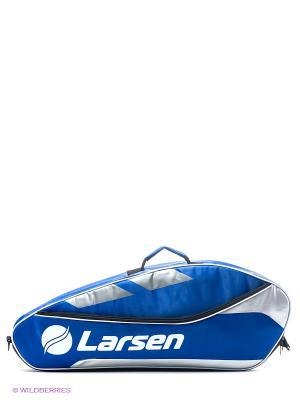 Сумка для ракеток Larsen. Цвет: синий, белый, серый