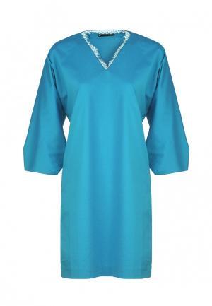 Платье Uona. Цвет: голубой