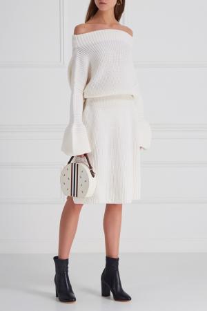 Шерстяное платье Aquilano.Rimondi. Цвет: белый