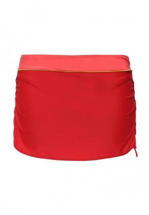 Юбка для плавания Curvy Kate. Цвет: красный