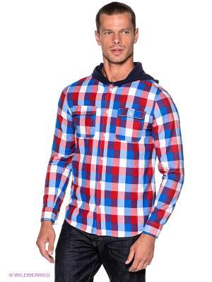Рубашка OUTFITTERS NATION. Цвет: синий, белый, красный, темно-синий