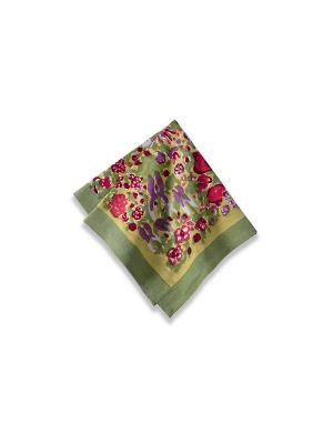 Салфетка Garden green-rouge /Сад зеленый-красный/ 50*50см, 100% хлопок Mas d'Ousvan. Цвет: зеленый, красный