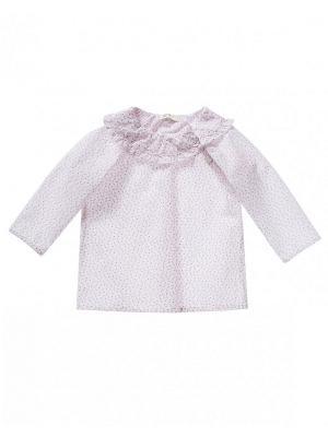 Блузка United Colors of Benetton. Цвет: розовый, белый