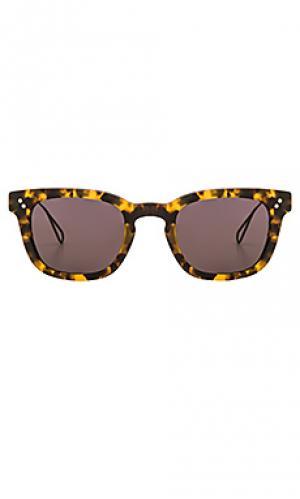 Солнцезащитные очки avery KREWE du optic. Цвет: коричневый