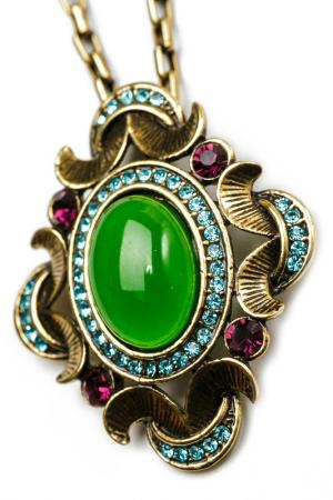Кулон Beatrici Lux. Цвет: зеленый