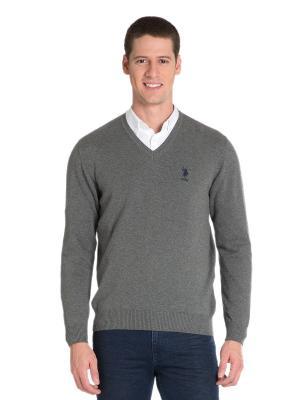 Пуловер U.S. Polo Assn.. Цвет: серый