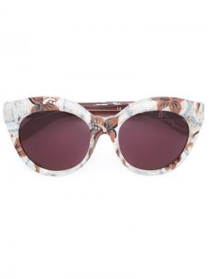 Солнцезащитные очки Mask D3 Kuboraum. Цвет: розовый и фиолетовый