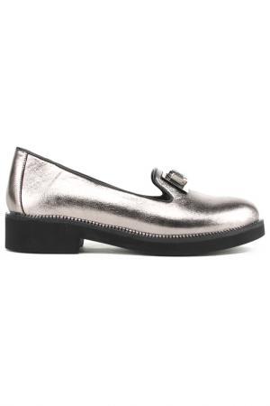 Туфли закрытые Zumita. Цвет: серебро