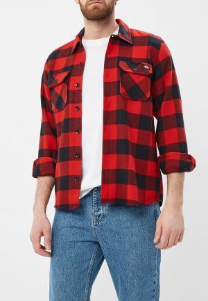 Рубашка Dickies. Цвет: красный