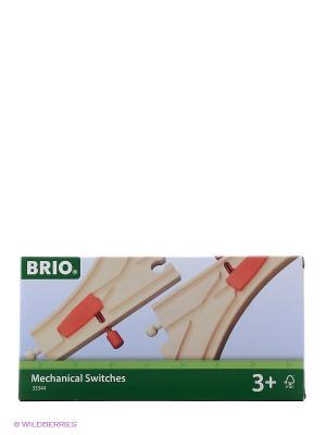 BRIO Ж/д полотно, с переключателем направления, длина 14,4см, 2дет.в наб.. Цвет: прозрачный