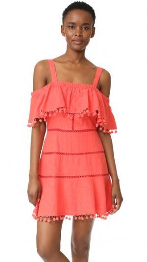 Платье Aster Red Carter. Цвет: оранжевый