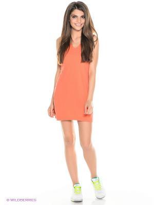 Платье Athlete Dress ASICS. Цвет: коралловый, оранжевый