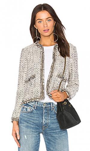 Куртка с отделкой бахромой belicia cupcakes and cashmere. Цвет: ivory