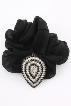 Резинка Shining Curl. Цвет: серебряный, белый, черный