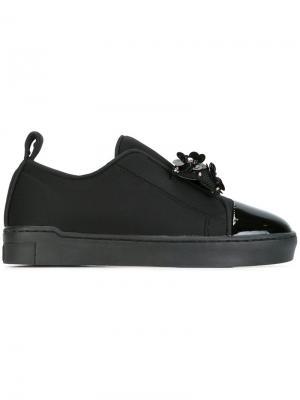 Декорированные кроссовки-слипон Suecomma Bonnie. Цвет: чёрный
