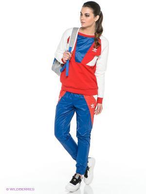 БРЮКИ ARCHIVE RUN TP Adidas. Цвет: синий, красный