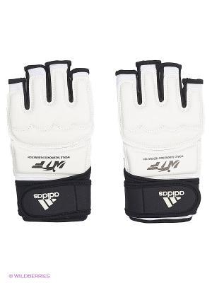 Перчатки для тхэквондо WTF Fighter Gloves Adidas. Цвет: белый, черный