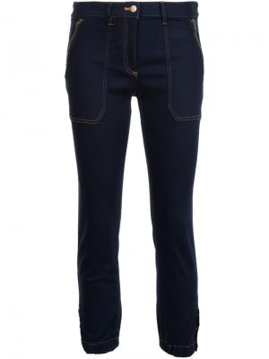 Укороченные брюки скинни Veronica Beard. Цвет: синий
