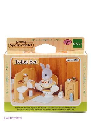 Набор Туалетная комната Sylvanian Families. Цвет: бежевый, белый, серый