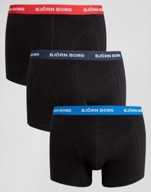 Bjorn Borg 3 пары боксеров-брифов. Цвет: черный