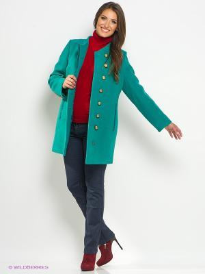 Пальто Electrastyle. Цвет: светло-зеленый, золотистый