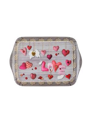 Поднос Gift'n'Home. Цвет: серый, розовый, темно-серый, красный