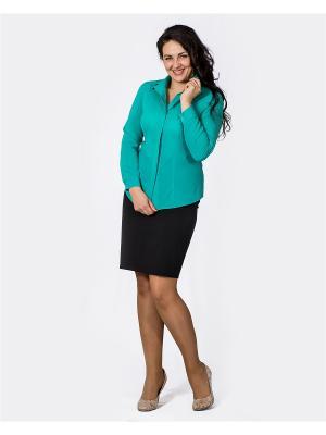Блузка Лагуна. Цвет: зеленый